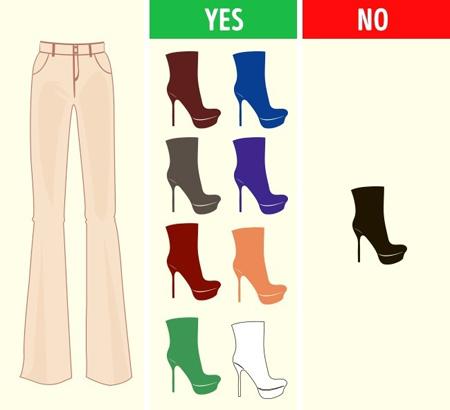 ست کردن رنگ شلوار با کفش