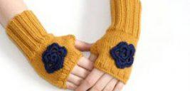 مدل دستکش بافتنی بدون انگشت ۹۶