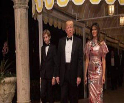 لباس ملانیا ترامپ در سال نو میلادی
