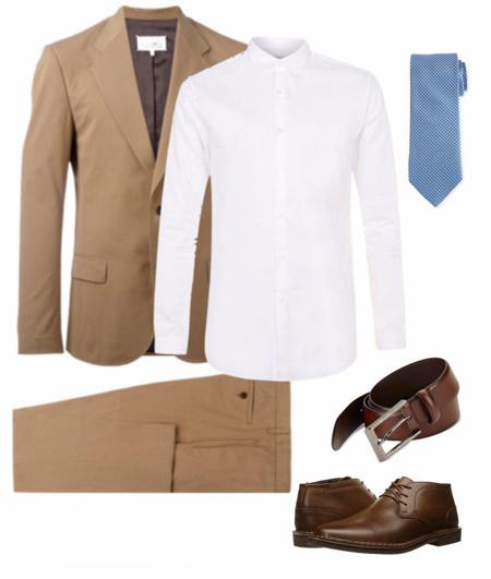 کت و شلوار مناسب پیراهن سفید