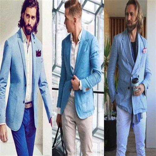 ست های مناسب با کت و شلوار آبی کمرنگ
