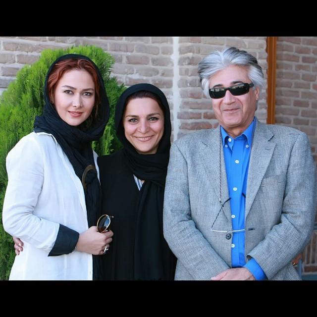 آنا نعمتی در کنار تهمینه میلانی و همسرش +عکس