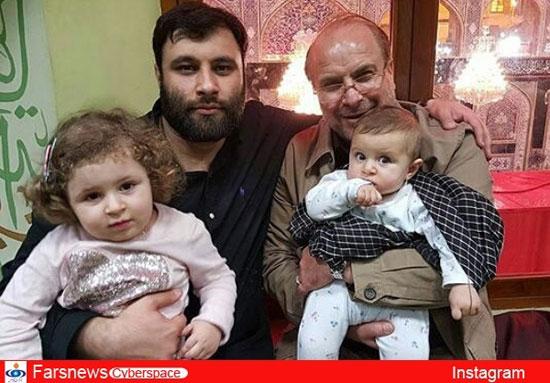 محمد باقر قالیباف به همراه خانوادهاش در کربلا + عکس