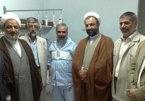 عکس:روحالله حسینیان در بیمارستان