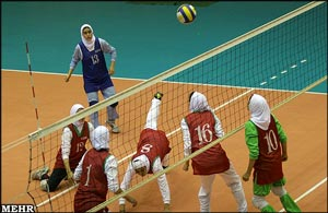 پوشش تیم والیبال زنان ایران از….