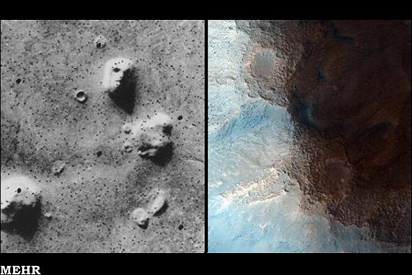 تصاویر ناسا از منطقهای شبیه صورت انسان در مریخ