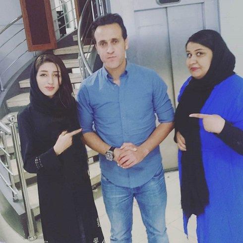 دختر خبرساز پرسپولیسی در کنار علی کریمی !!+عکس