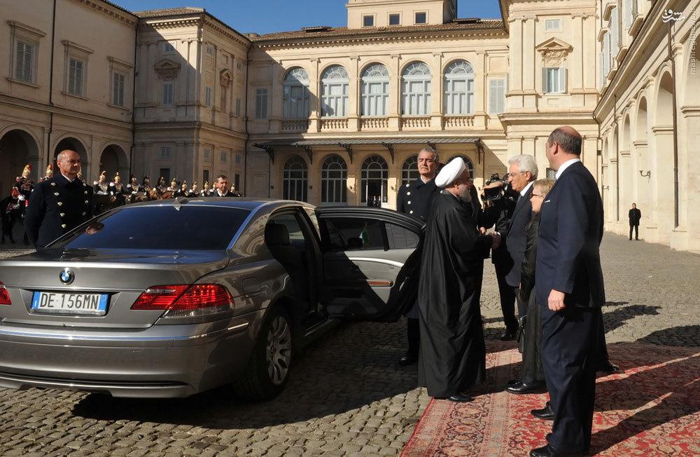 ماشین روحانی در ایتالیا+عکس