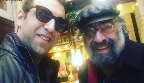 کارگردان معروف و پسر بازیگرش در مشهد +عکس
