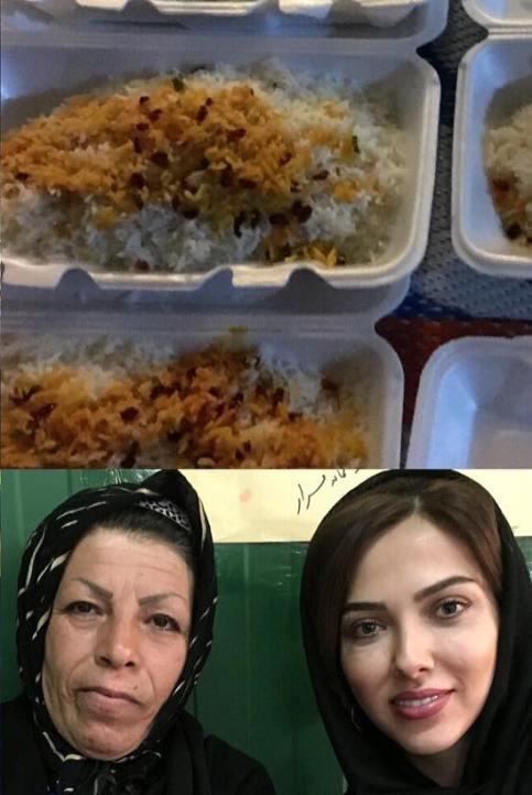 لیلا اوتادی درحال دادن نذری در ماه رمضان! +عکس