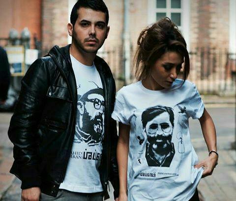 شهدای مشهور ایرانی روی تی شرت جوانان لندن +عکس
