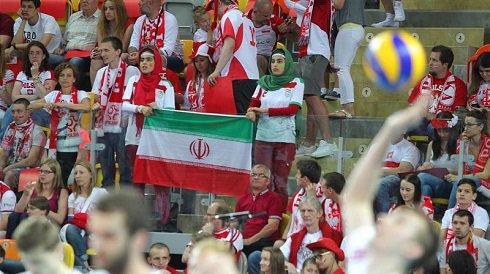 دختران هوادار تیم ملی والیبال ایران + تصاویر