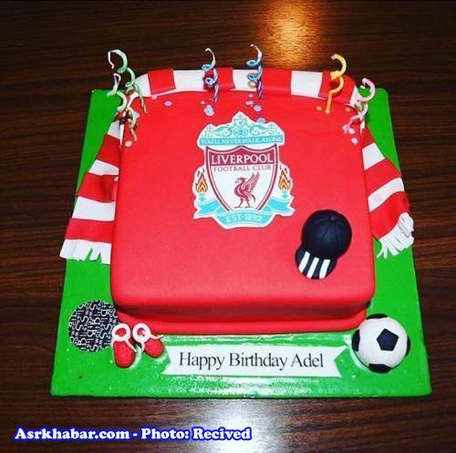 کیک تولد جالب برای عادل فردوسی پور +عکس