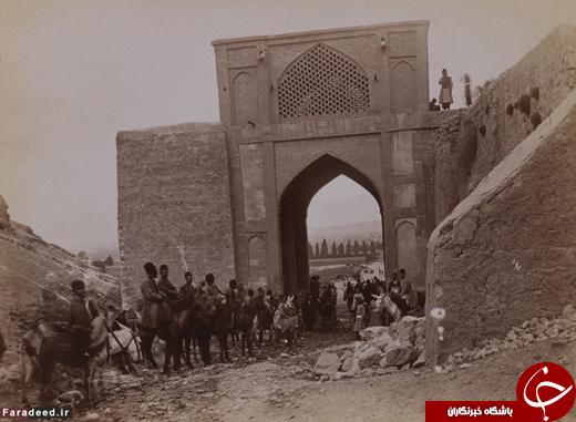 دروازه قرآن پیش از تخریب در عصر رضاشاه+عکس