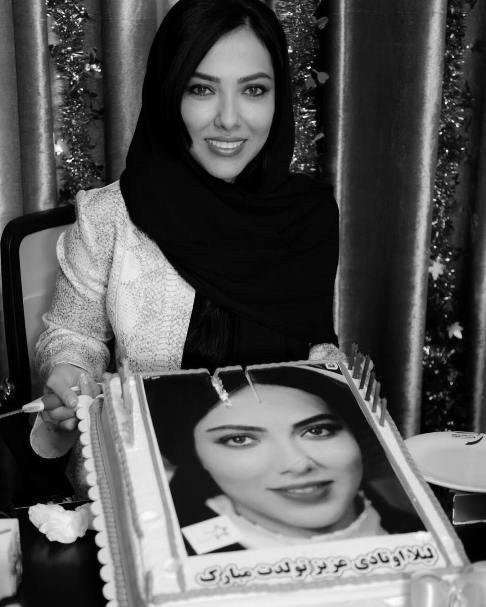 جشن تولد ۳۳ سالگی لیلا اوتادی با کیک های مختلف ! +عکس