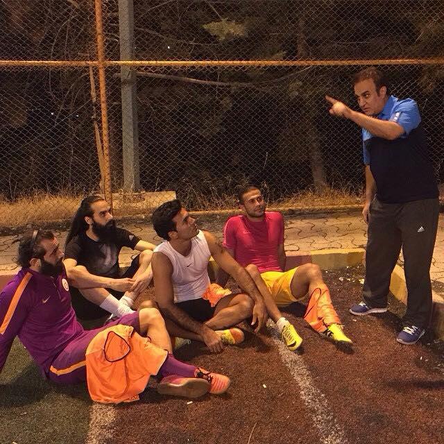 تمرینات امیرتتلو کنار فوتبالیستها +تصاویر