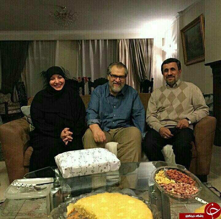 عیادت احمدی نژاد از کارگردان مشهور + عکس