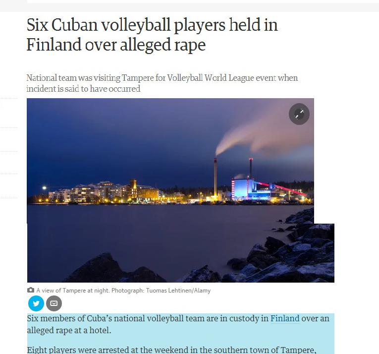 ۸ بازیکن والیبال به جرم تجاوز دستگیر شدند + عکس