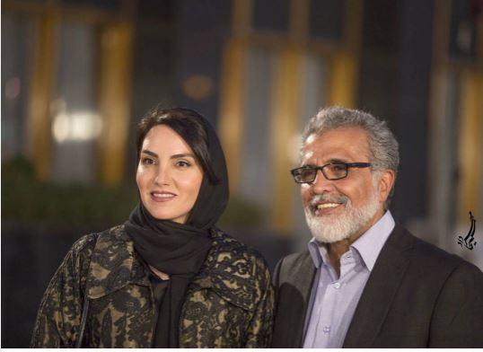 مجری برنامه هفت در کنار همسر جوانش + عکس