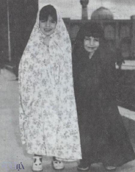 عکس دیده نشده از لیلا حاتمی و لیلی رشیدی در کودکی!