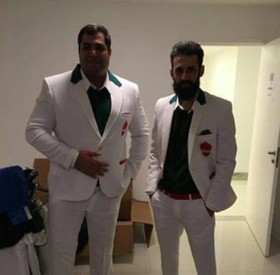 سعید معروف و محمد رضا رودکی با لباس المپیک +عکس