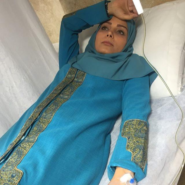 مجری زن تلویزیون روی تخت بیمارستان+ عکس