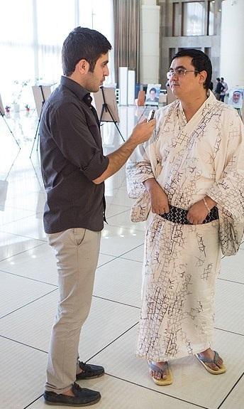 پوشش جالب شیعه ژاپنی در تهران + عکس
