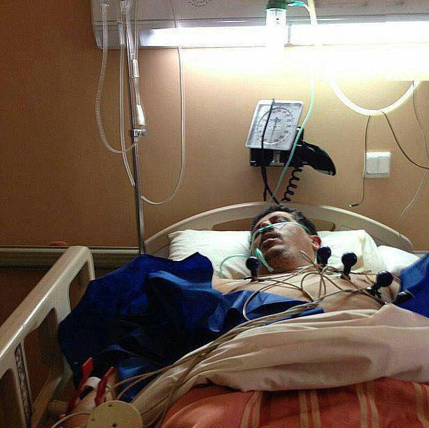 مهدی هاشمی روی تخت بیمارستان+عکس