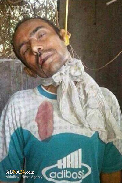 مزدوران داعشی سعودی یک معلم را دار زدند+عکس۱۸+