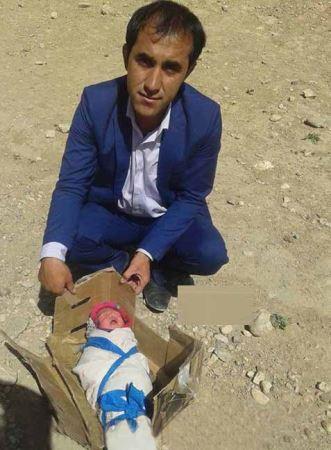 رها کردن بیرحمانه نوزاد ۲ روزه در بیابان بخاطر دختر بودن+عکس