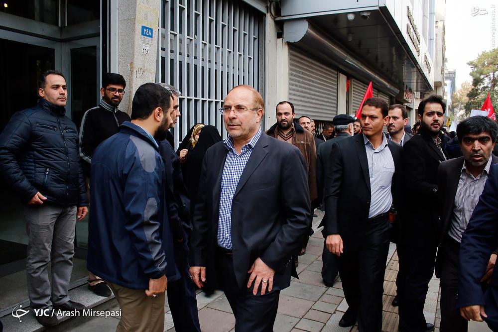 قالیباف در راهپیمایی ۱۳ آبان + عکس