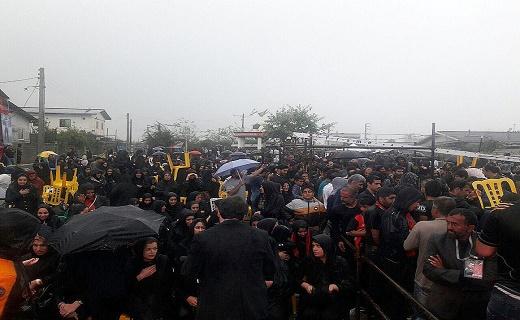 گریه آسمان در اولین مراسم سالگرد کاپیتان فقید پرسپولیس +عکس