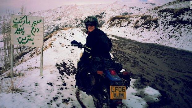 خاطرات جالب زن جوان موتورسوار از سفر به ایران +تصاویر