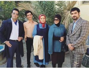 عکس دیدنی مهراوه شریفی نیا با بازیگران کیمیا + عکس
