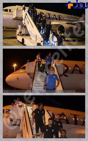 هواپیمای اختصاصی بازیکنان تیم ملی قطر در تهران +عکس