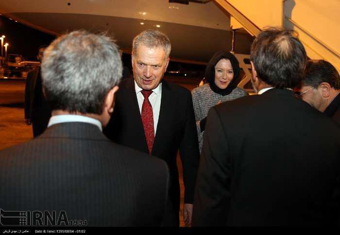حجاب همسر رییس جمهور فنلاند در تهران !!+عکس