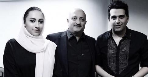 مسعود روشن پژوه و دخترش درکنار پورسرخ و حمید عسکری+عکس
