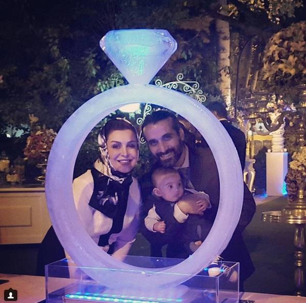 ماهچهره خلیلی با همسر و پسرش در حلقه عشق + عکس