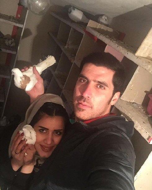 عکسی جالب از شهرام محمودی و همسرش!