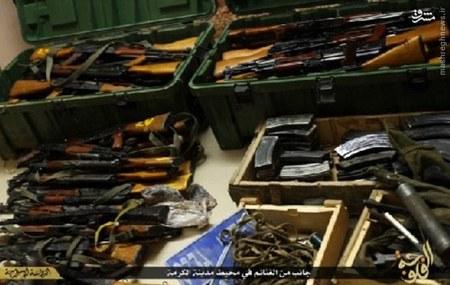 انبار مهمات داعش در عراق + تصاویر