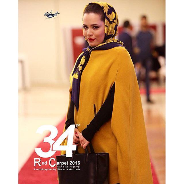 ملیکا شریفی نیا در جشنواره فجر با پوششی شیک و جذاب + عکس