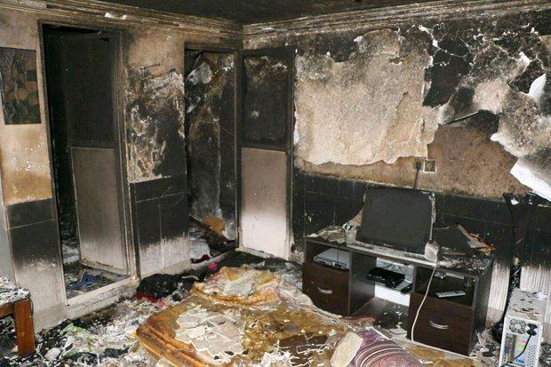 کودک ۳ ساله مشهدی خانه را به آتش کشید + عکس