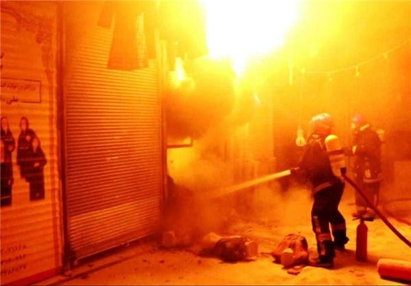 بازار رضای مشهد آتش گرفت +تصاویر