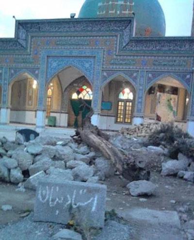 تخریب سنگ قبر استاد بنان ؟ +عکس