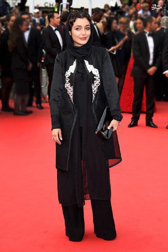پوشش بازیگر ایرانی روی فرش قرمز کن + عکس