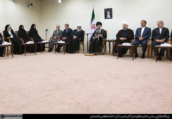 رییسجمهور و هیات دولت در ضیافت افطار رهبر انقلاب + تصاویر