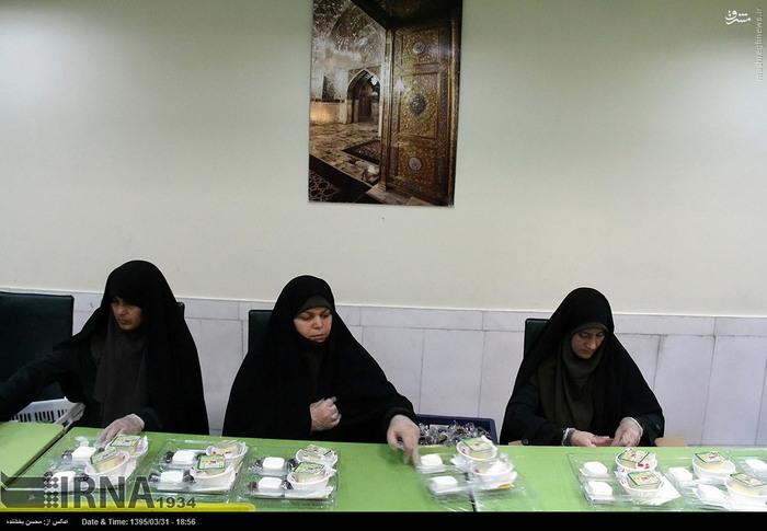 آماده سازی غذای طرح اکرام رضوی+ عکس
