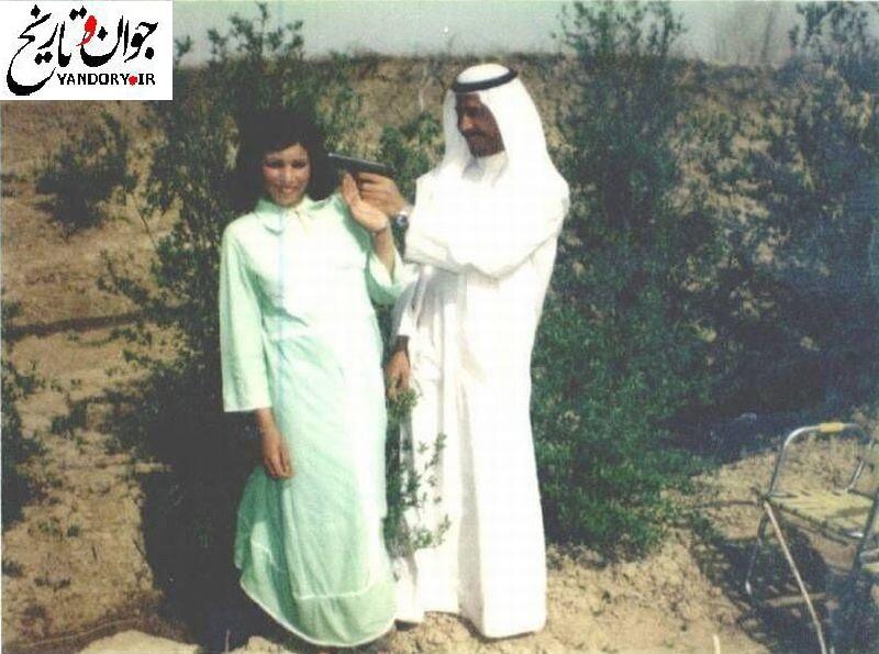 شوخی عجیب و ترسناک صدام با همسرش!+عکس