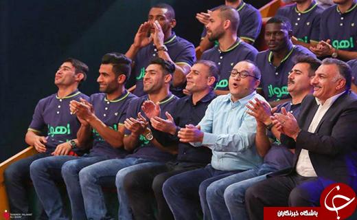 قهرمان لیگ برتر با جامش به «خندوانه» آمد +تصاویر