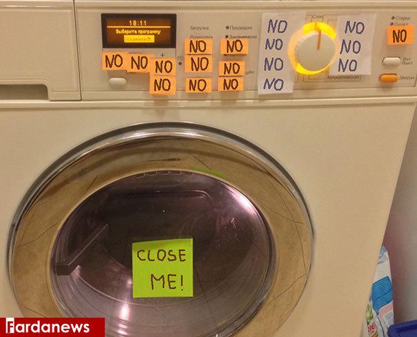 آموزش جالب استفاده از ماشین لباسشویی+عکس